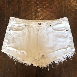White Free People cut off jean shorts